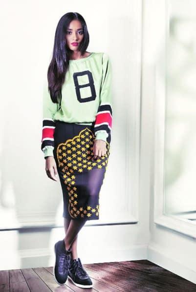 Varsity sweatshirt are integral to Huemn's summer lineup