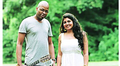 Kavita Shah with producer Lionel Louke.