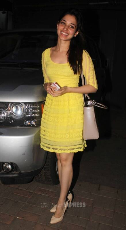 Tamannah is cheery in yellow