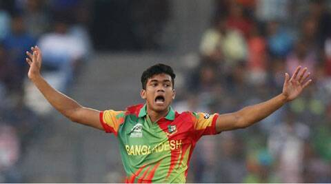 Spotted as one of the quickest bowlers in Bangladesh, Taskin, 19, made his T20 debut against Australia in the World Cup. The youngster had made heads turn when he had clean bowled Glenn Maxwell for 5. (Source: AP)