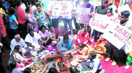 A file picture of Campa Cola residents performing havan