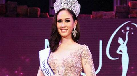 In this photo taken May 17, 2014, Weluree Ditsayabut poses after she was crowned Miss Universe Thailand at the competition in Bangkok, Thailand. Weluree has resigned less than a month into her reign after being harshly criticized on social media over her political comments and looks. Source: AP