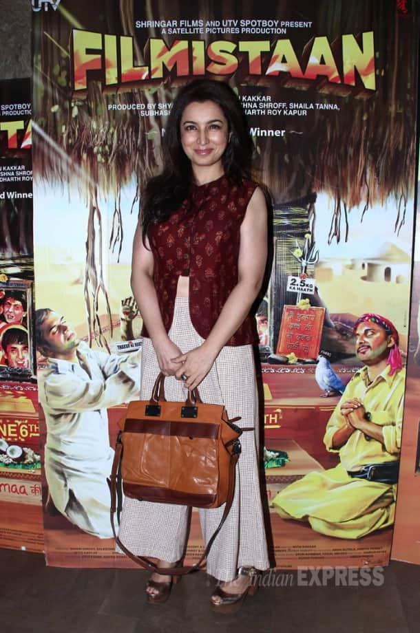 Aditi, Ayushmann watch 'Filmistaan'