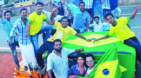 Kick and rush: Fans of Brazil and Argentina in Malappuram Source: T mohandas