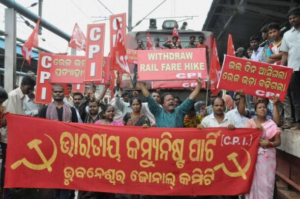 Protests against proposed rail fare hike