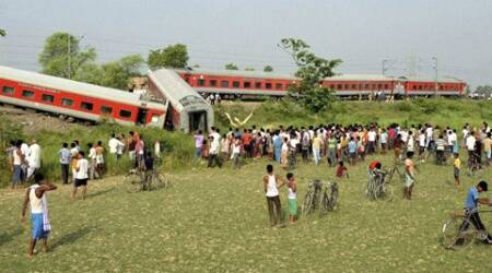 At least four people were killed while eight others were injured as the Delhi-Dibrugarh Rajdhani Express. (Source: PTi)