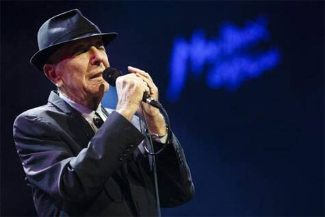 Canadian singer-songwriter Leonard Cohen performs during the first night of the 47th Montreux Jazz Festival in this July 4, 2013 Source: Reuters