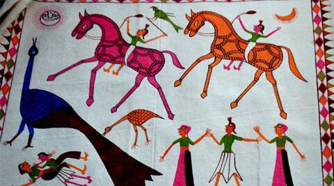 Pithora art is made by tribals of Aadharkaanch in Alirajpur district of Madhya Pradesh | Source: Swasti Pachauri