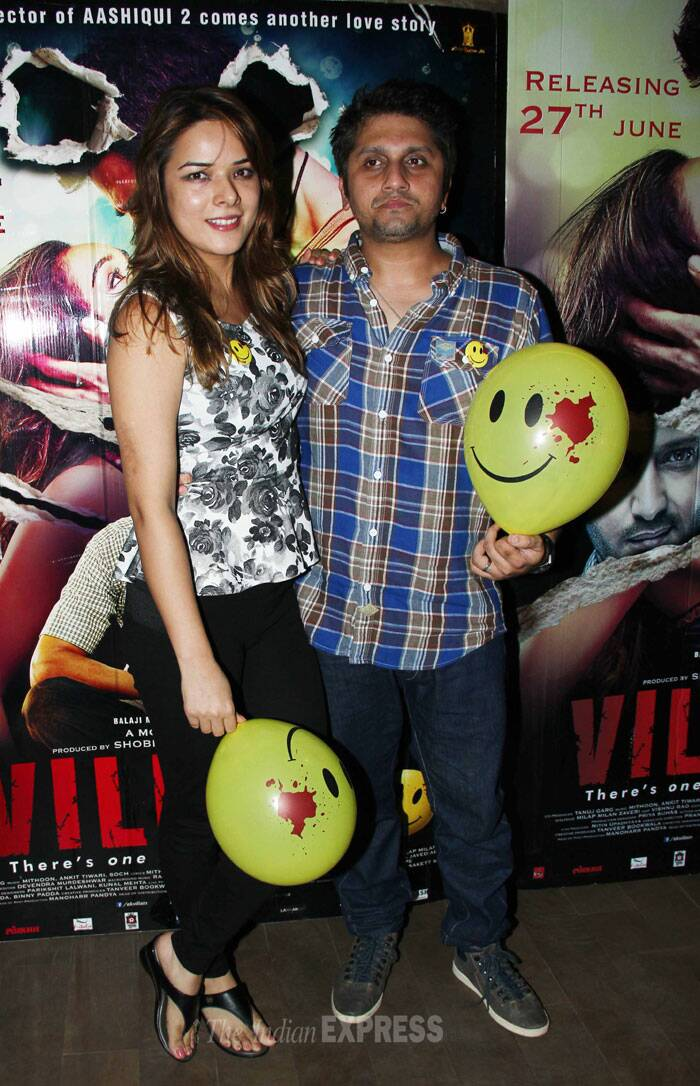 Director Mohit Suri was accompanied by his actress wife Udita Goswami. (Source: Varinder Chawla)