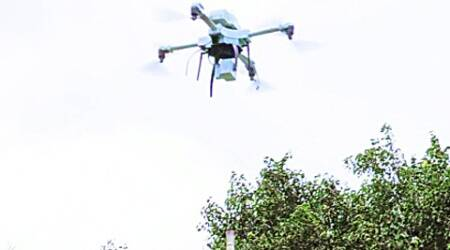 The UAV, a prized possession of the NDRF 5th battalion, was used for search operations during the Uttarakhand floods last year.