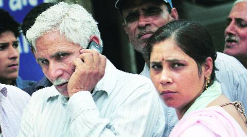 Father and sister of Ranbir Singh at Tis Hazari court Monday.