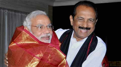 MDMK chief Vaiko with Prime Minister Narendra Modi. (Source: PTI)