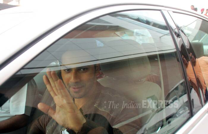 Soon after the inauguration, Varun made a quick exit. (Source: Express Photo by Gurmeet Singh)