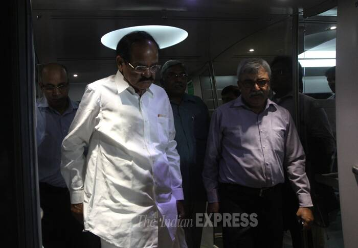 Naidu said efforts have to be made to find out ways to make Metro more viable and self-sufficient. (Source: Express photo by Prem Nath Pandey)