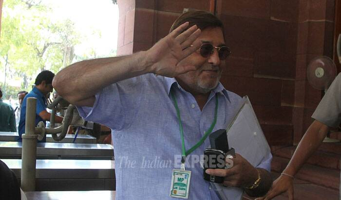 BJP MP Vinod Khanna at the Parliament house in New Delhi  (Source: Express photo by Anil Sharma)