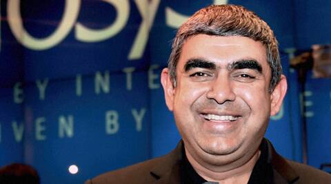 Newly appointed Infosys CEO & MD Vishal Sikka during a press conference in Bangalore. (PTI)