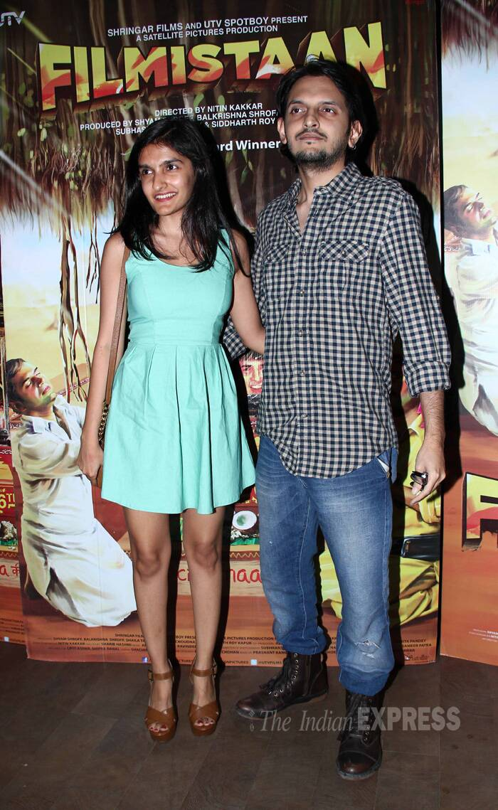 Director Vishesh Bhatt and sister Sakshi also made it to the screening of 'Filmistaan'. (Source: Varinder Chawla)