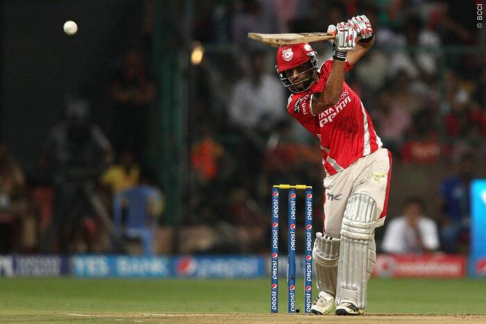 Manan Vohra was in supreme touch with the bat and marked his 67-run innings with six classic boundaries and two magnificent sixes. He also shared a 125-run partnership with Wriddhiman Saha from just 72 nballs. (Source: BCCI/IPL)