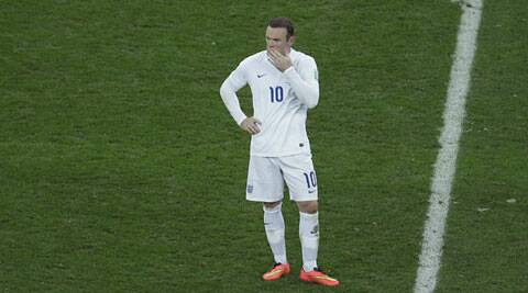Wayne Rooney was the lone scorer in England's disappointing loss to Uruguay. (Source: AP)