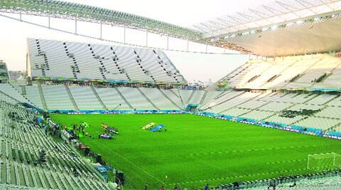 Arena Corinthians in Sao Paolo, the venue for the opening match of the 2014 World Cup (Source: Express Photo by Aditya Iyer)