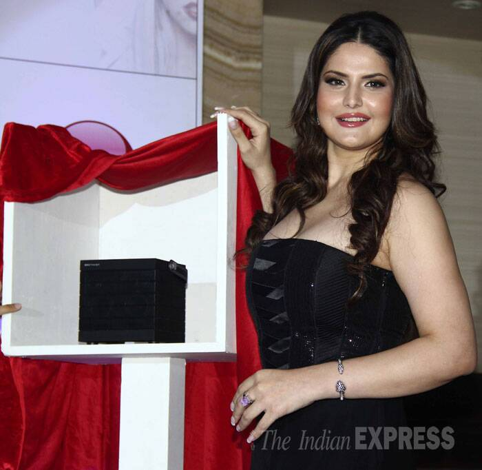 Salman Khan's former leading lady Zarine Khan was glowing as she attended a product launch. (Source: Varinder Chawla)