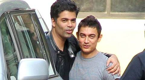 Image result for aamir and karan johar