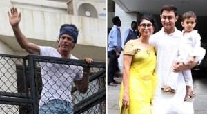 Aamir, Kiran celebrate Eid with Azad and Shah Rukh with fans