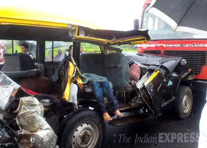 A shot of a woman's body inside the traveller jeep. (Source: Express photo)