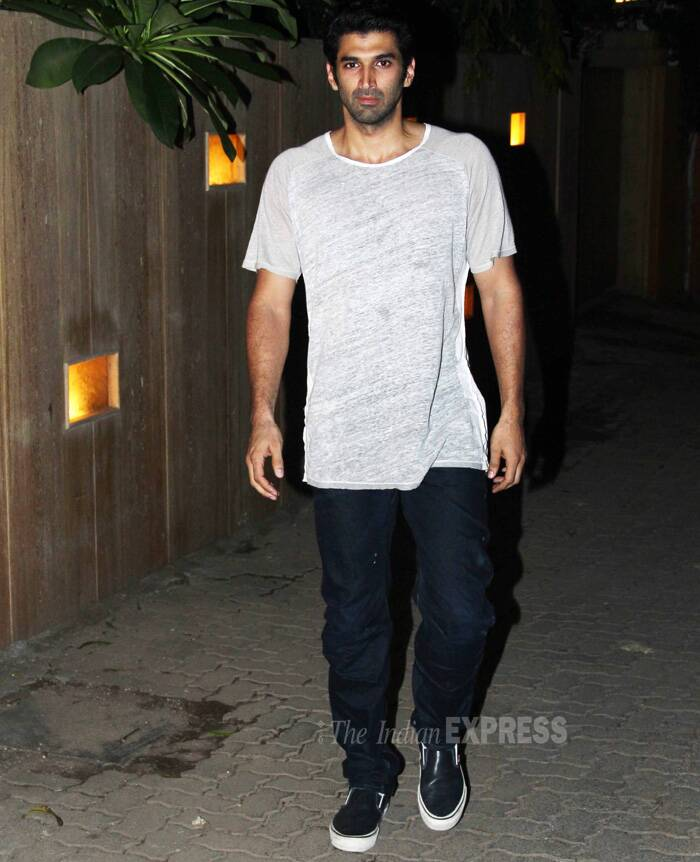 Shraddha's rumoured beau Aditya Roy Kapoor was also spotted at the bash. (Source: Varinder Chawla)