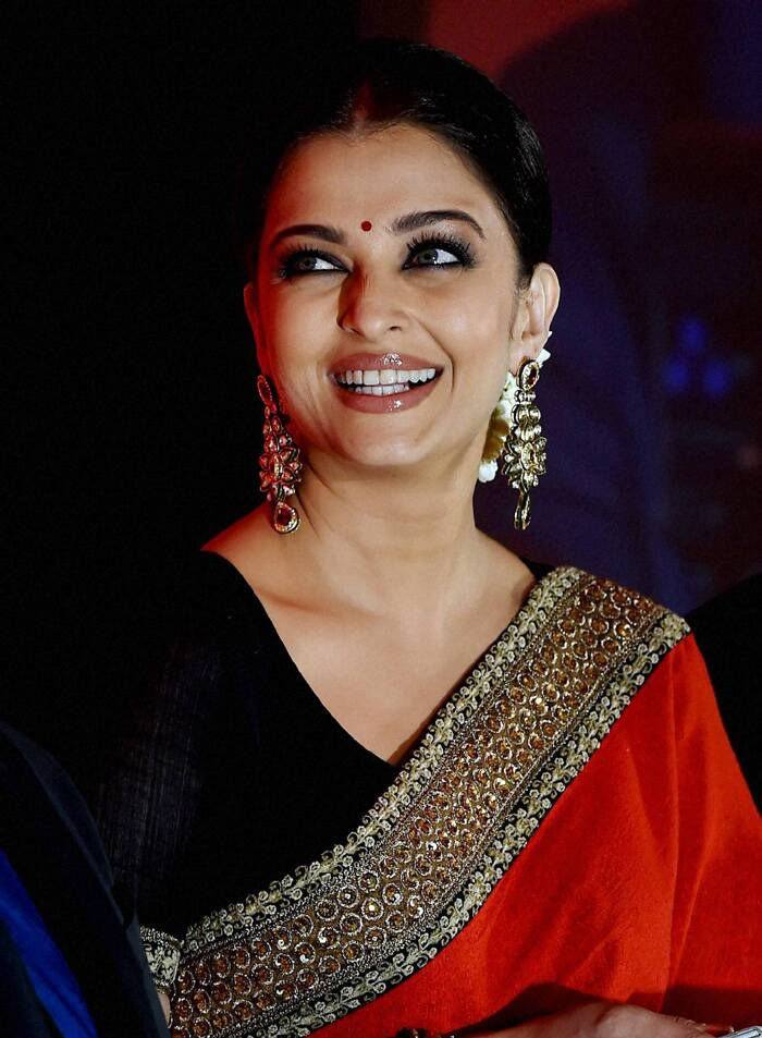 Aishwarya Rai was all smiles at the event. (Source: PTI)