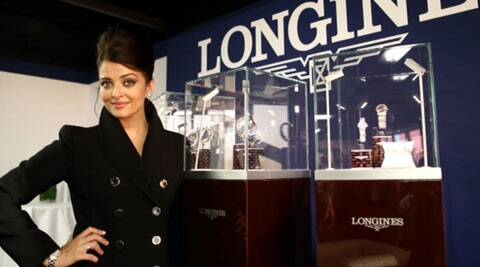 Aishwarya Rai Bachchan was dressed in a black coat with her lustrous locks tied in a high bun.