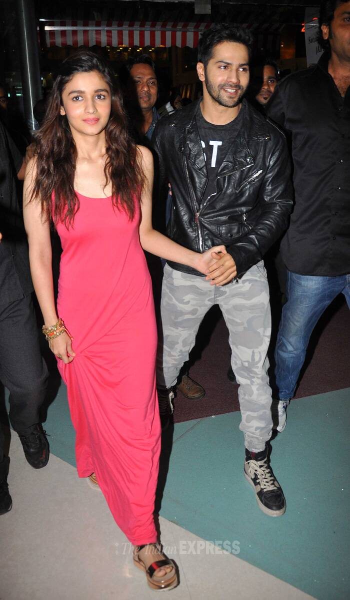 "At the event Varun said that he shares a love-and-hate relationship with Alia Bhatt. ""We have spent so much time with each other that we are comfortable with each other. Ours is a love and hate relationship. We keep fighting a lot on various small things. But we are friends,"" Varun said. (Source: Varinder Chawla)"
