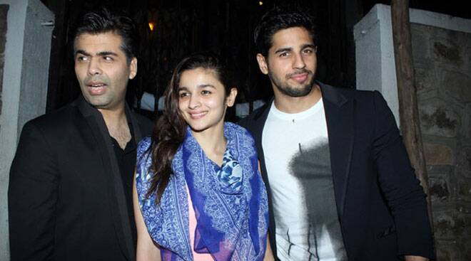 Alia, Sidharth dine out with Karan Johar; Akshay, Tamannah are busy 'Entertain'-ing