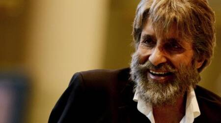 Amitabh Bachchan has shared his intense look for his upcoming film 'Shamitabh'.