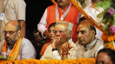 Narendra Modi's close aide Amit Shah will take over from Rajnath Singh, who is now the Union Home Minister. (Source: PTI)