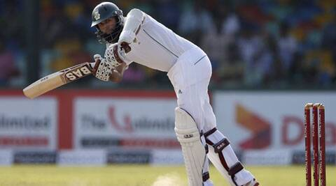 Hashim Amla scored 46 runs off 134 balls on the second day of the second Test against Sri Lanka. (Source: Reuters)