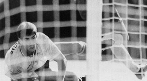 Andres Escobar deflected the ball into his own net in this match against the USA, a 2-1 loss on June 22, 1994. He was shot dead 10 days later. (Source: AP)