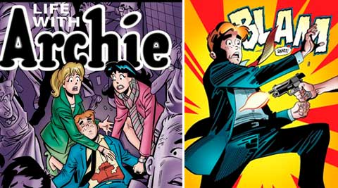 "Archie in his final moments of life in a scene from the comic book, ""Life with Archie,"" issue 36. (Source: AP)"