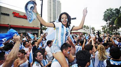 Fan frenzy after Argentina win