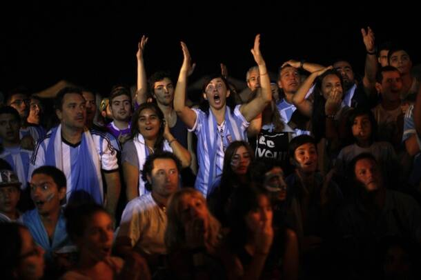 Dejected Argentine fans take their anger to streets after World Cup loss