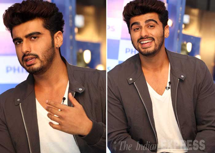Bollywood actor Arjun Kapoor, who is receiving phenomenal response for his look in the upcoming film 'Finding Fanny Fernandez', turned Mr. Moody at a product launch event in Mumbai. (Source: Varinder Chawla)