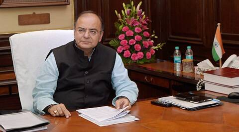 FM Arun Jaitley while giving final touches to the Annual Budget 2014-15 in New Delhi on Wednesday. (PTI)
