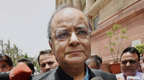 Union Minister for Finance Arun Jaitley talking to media at Parliament House in New Delhi. (Source: PTI)