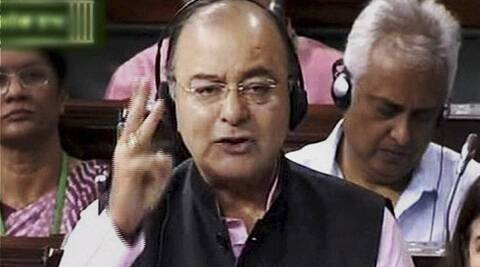 Union Finance Minister Arun Jaitley speaking in Lok Sabha in New Delhi on Friday. (PTI)
