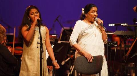 Asha Bhosle shared the stage with Zanai at a music award show early this year.