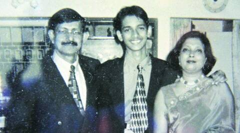 The parents with Avik when he was a teenager