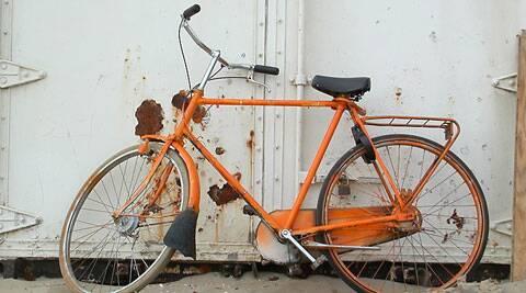 The BJP-led Gujarat government distributed orange (saffron) coloured bicycles to backward caste school girls under their ongoing scheme.