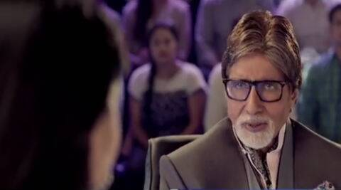 Amitabh Bachchan shown in the KBC 8 promo.