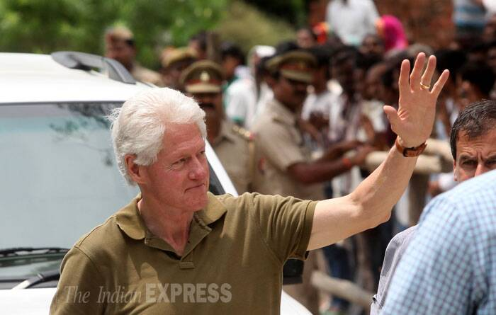 Former American President Bill Clinton visited Lucknow on Thursday. (Source: Express photo by Vishal Srivastav)