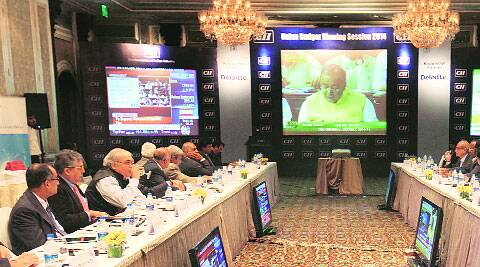A live screening of the budget organised in the city by the Confederation of Indian Industry Thursday.